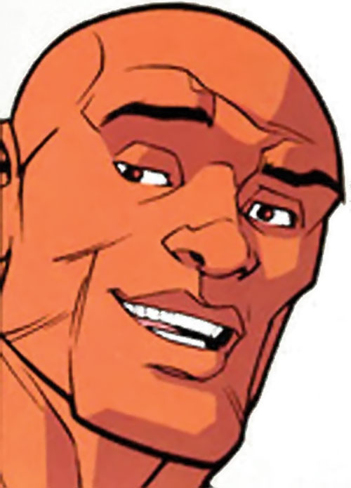 Black Samson of the Guardians of the Globe (Invincible Image comics) face closeup