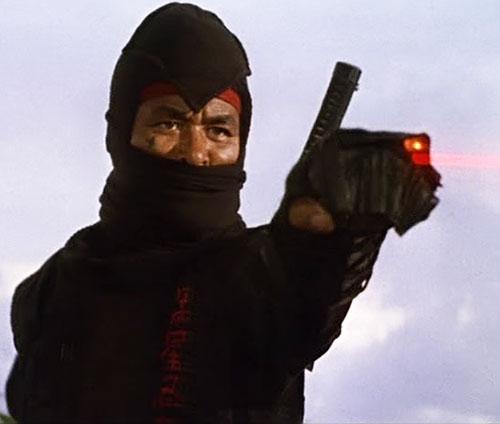 Black Star Ninja (Tadashi Yamashita in American Ninja) shooting lasers