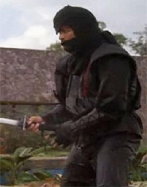 Black Star Ninja (Tadashi Yamashita in American Ninja) with sword