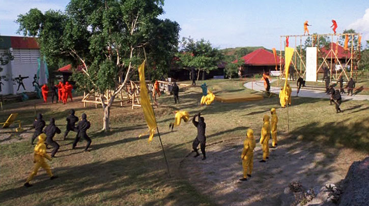 Ninja training camp in the American Ninja movie (general view)
