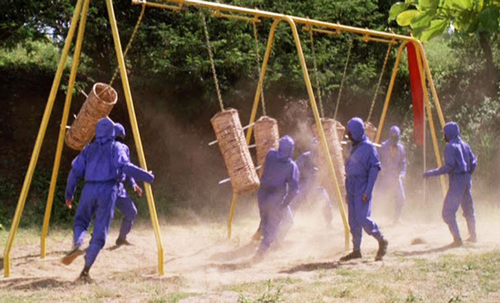 Ninja training camp in the American Ninja movie
