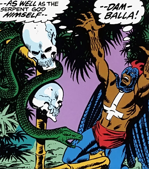Black Talon (Marvel Comics) prays to a serpent altar