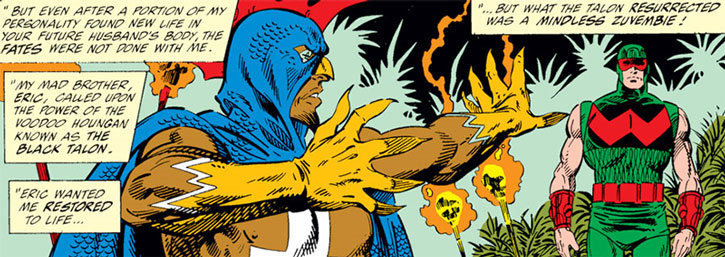 Black Talon (Samuel Barone) raises Wonder Man