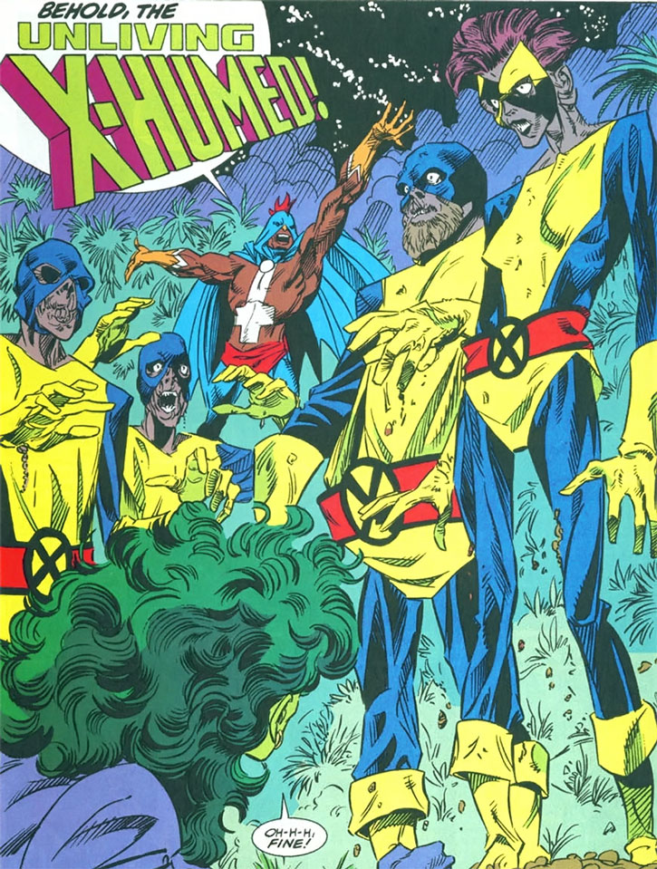 The X-Humed - mutant zombies raised by the Black Talon