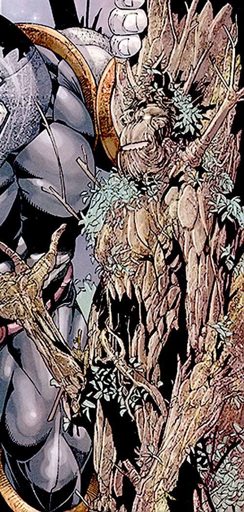 Black Tom Cassidy (X-Men enemy) (Marvel Comics) in plant-like form