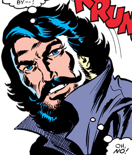 Black Tom Cassidy (X-Men enemy) (Marvel Comics) face closeup