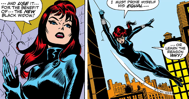 The Black Widow prepares to confront Spider-Man