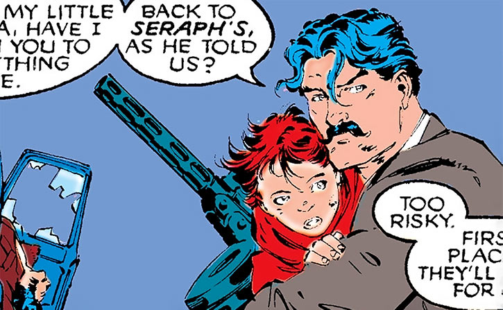 Black Widow as a child, with Ivan in Madripoor