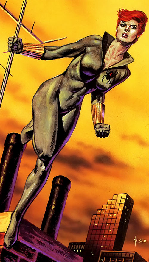 Black Widow (Romanoff) during the 1980s (Marvel Comics) Jusko masterpieces painting