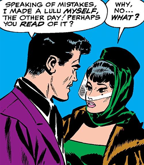 The Black Widow (Natalya Romanova) (Marvel Comics) and Tony Stark during the 1960s