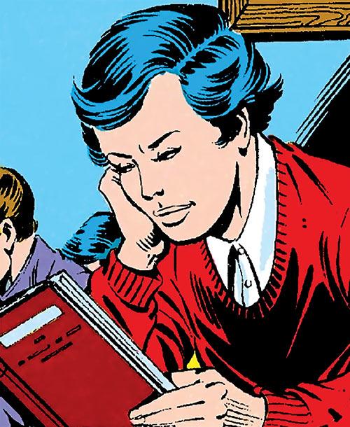 The Black Widow (Natalya Romanova) (Marvel Comics) as a schoolgirl