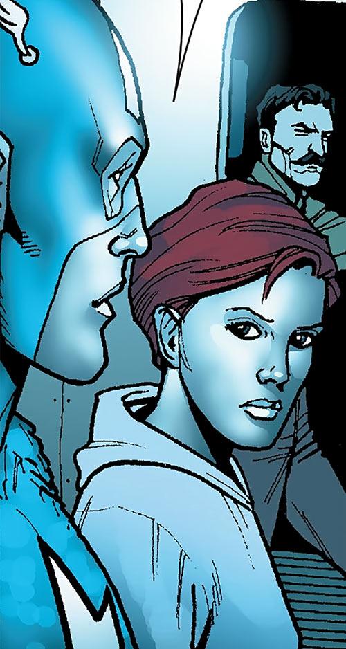 The Black Widow (Natalya Romanova) (Marvel Comics) and Captain America during the 1940s