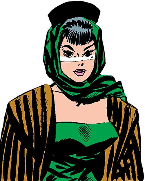 The Black Widow (Natalya Romanova) (Marvel Comics) as a 1960s femme fatale
