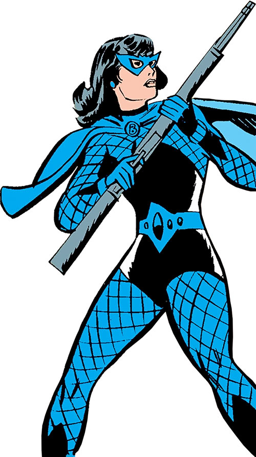 Black Widow (Romanoff) during the 1960s (Marvel Comics) with a rifle