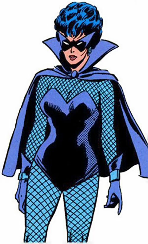 Black Widow (Romanoff) during the 1960s (Marvel Comics) with the light blue body glove