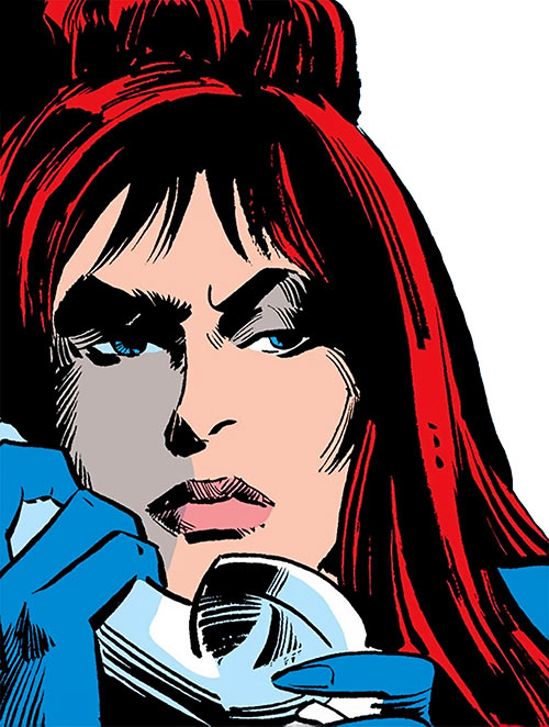 Black Widow (1970s Marvel Comics) on the phone Gene Colan