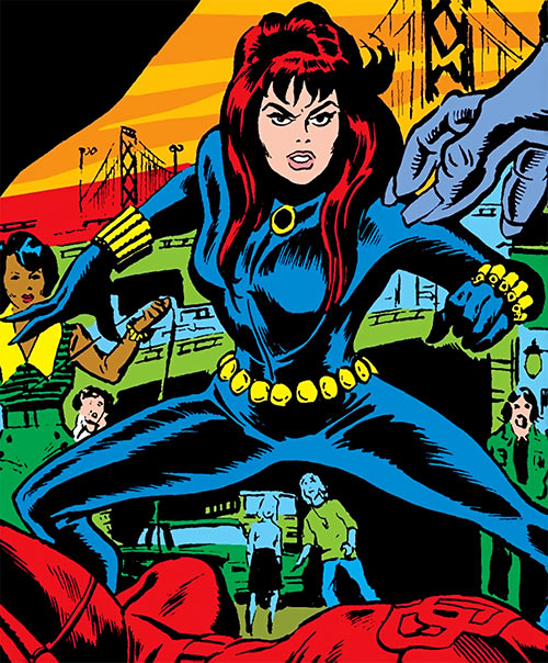 Black Widow (1970s Marvel Comics) and a fallen Daredevil