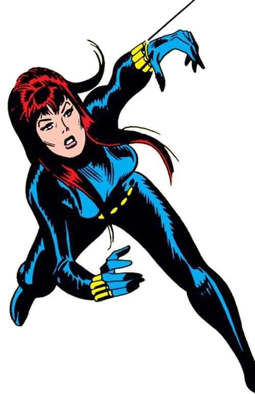 Black Widow Marvel Comics Champions 1970s Profile Writeups