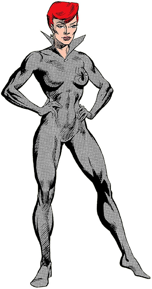 Black Widow (1980s Marvel Comics) in the light gray costume