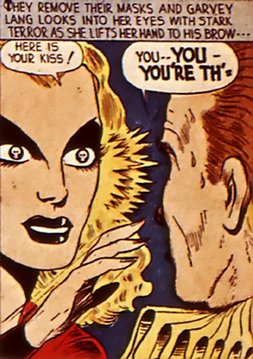 Black Widow (Marvel Comics) (Claire Voyant) and the kiss of death