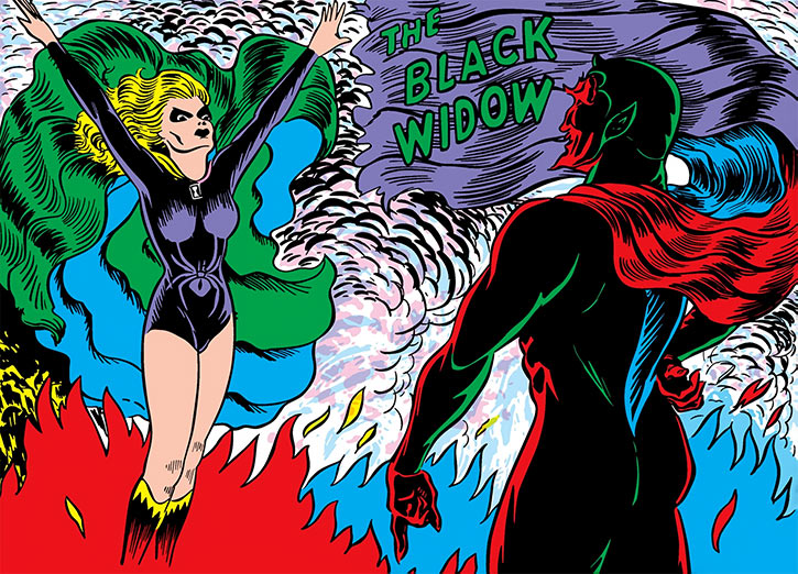 Black Widow (Marvel Timely Comics) (Claire Voyant) and Satan