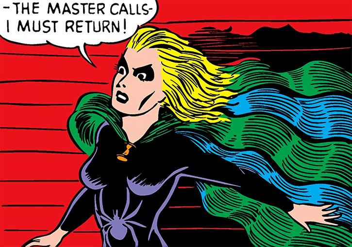 Black Widow (Marvel Timely Comics) (Claire Voyant) dramatically underlit