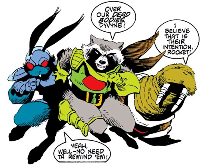 Blackjack O'Hare, Rocket Raccoon and Wal Rus