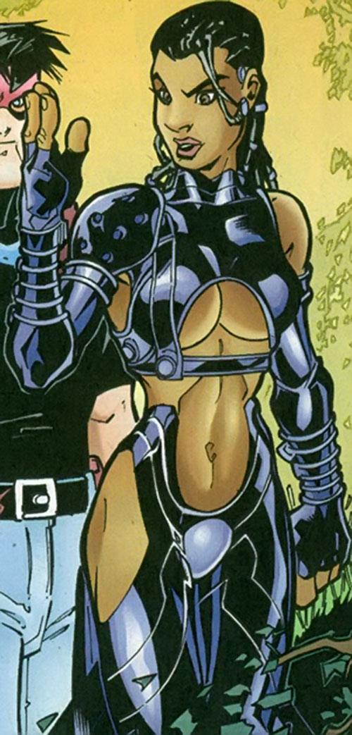 Blackstarr of the Suicide Squad (DC Comics) as a Black woman