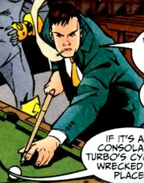 Blackwing (Marvel Comics) (Manfredi) shooting pool