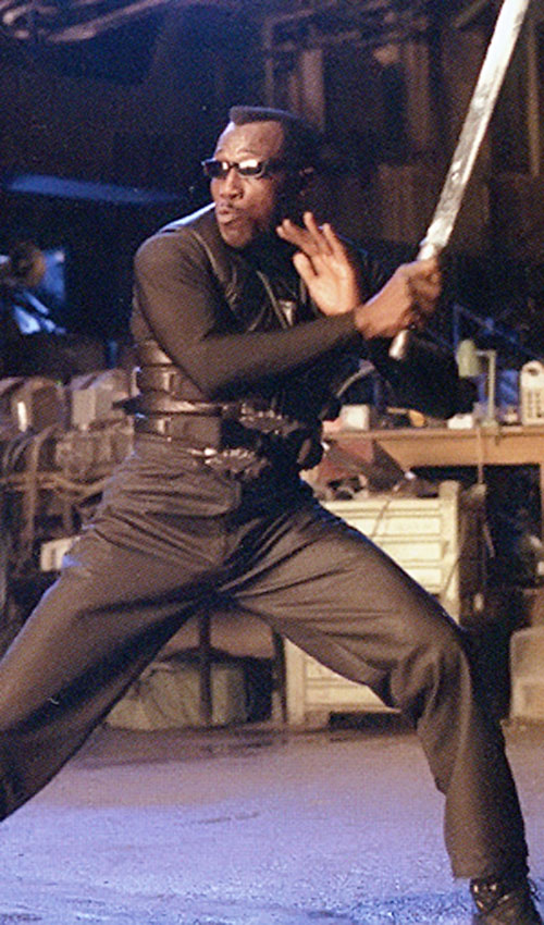 Blade (Wesley Snipes) sword fighting