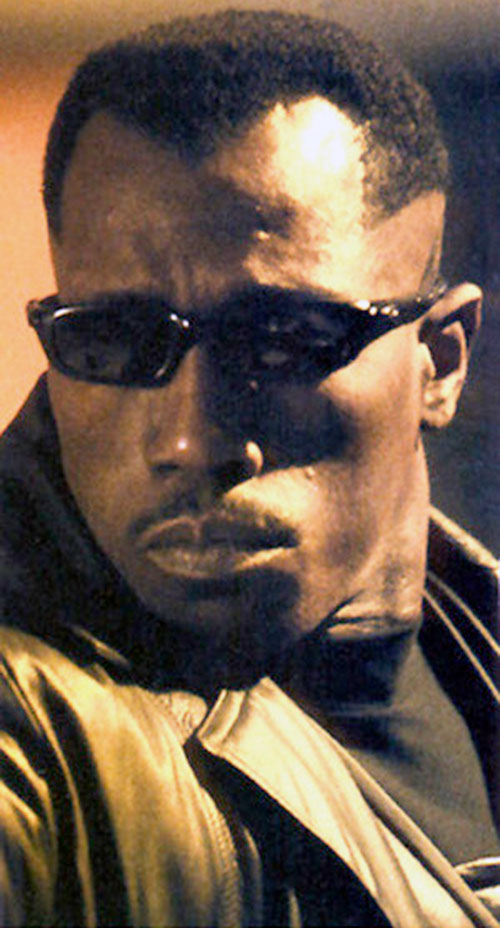 Blade (Wesley Snipes) closeup