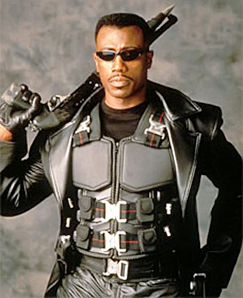 Blade (Wesley Snipes) body armor and shotgun