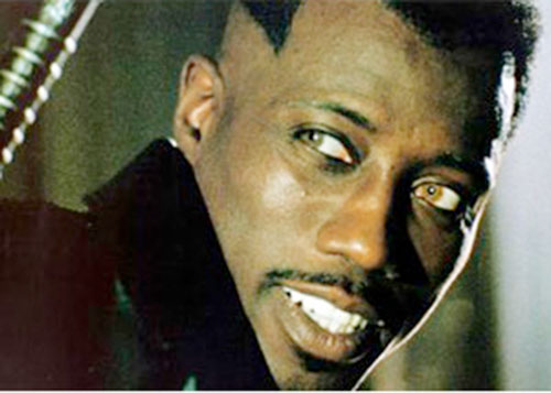 Blade (Wesley Snipes) with vampire eyes