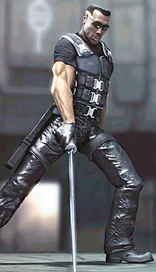 Blade (Wesley Snipes) with his sword