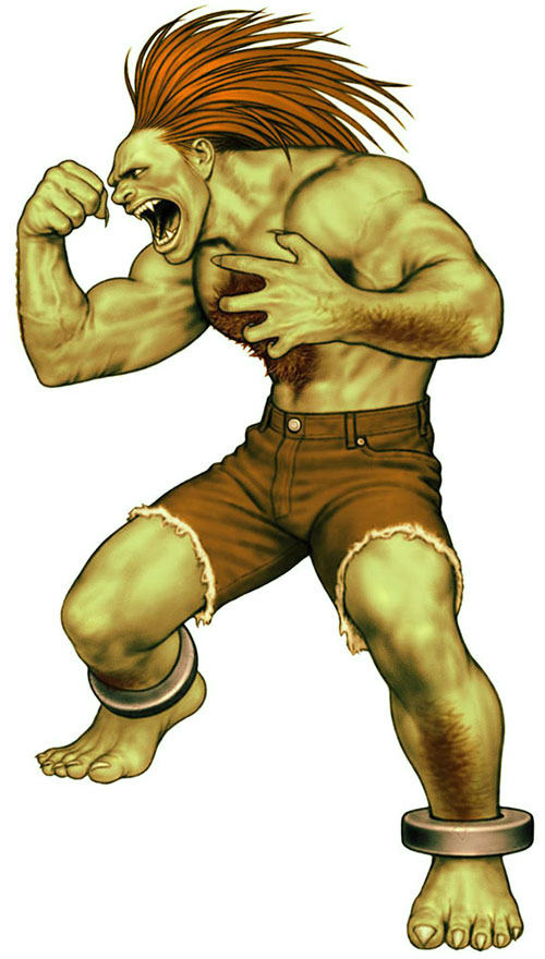 Blanka (Street Fighters) ready to fight