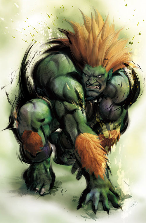 Blanka (Street Fighters) painting