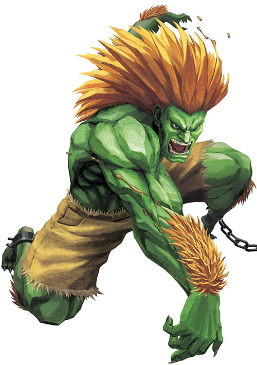 Blanka from Street Fighters