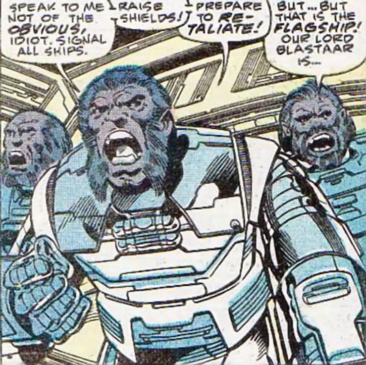 Baluurian soldiers, from the same species as Blastaar