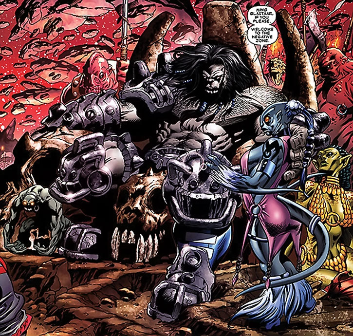 Blastaar on his Negative Zone throne