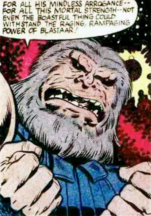 Blastaar (Marvel Comics) face closeup