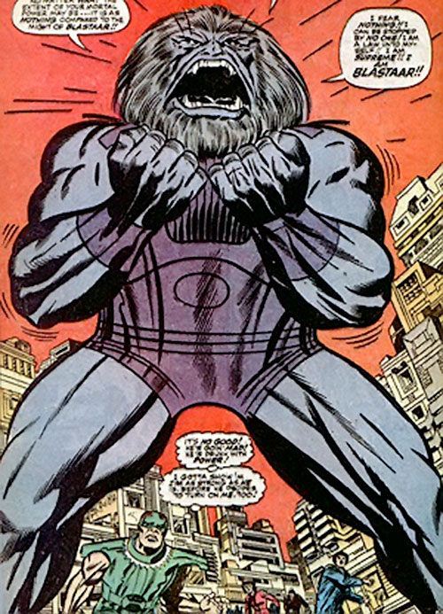 Blastaar (Marvel Comics) in Manhattan, and the Sandman