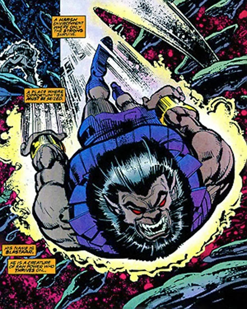 Blastaar (Marvel Comics) rocketing through space