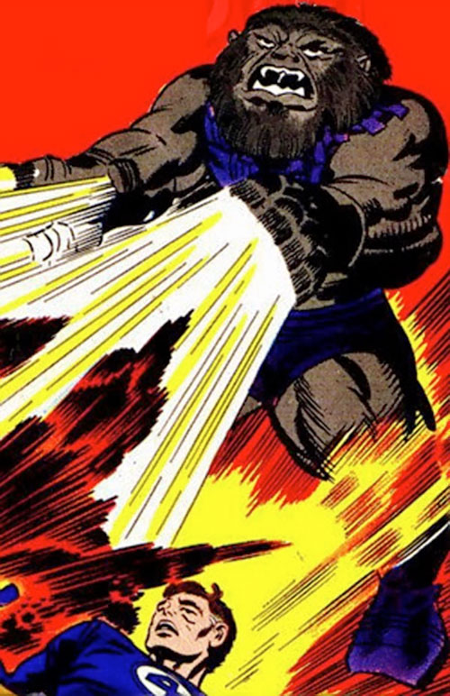 Blastaar (Marvel Comics) shooting blasts from his hands