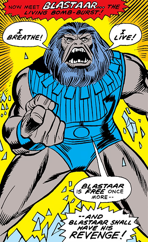 Blastaar (Marvel Comics) making the usual boasts