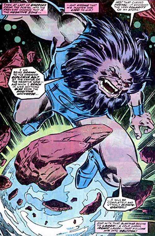 Blastaar (Marvel Comics) in the Negative Zone