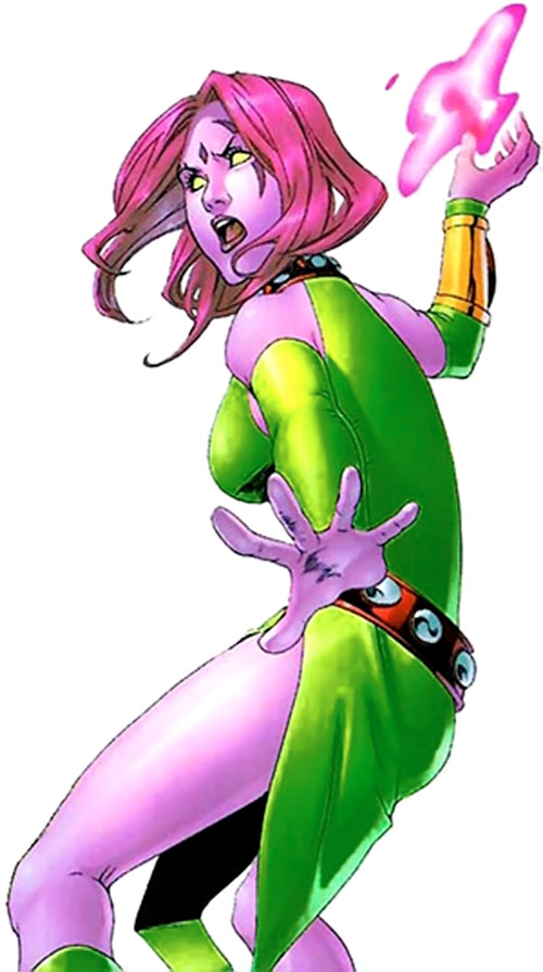 Blink of the Exiles (Marvel Comics) about to use her power