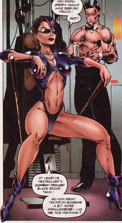 Bliss (DV8) (Wildstorm Comics) exercising