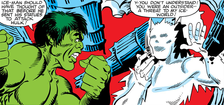 Jack Frost (Shapanka) vs. the Hulk, by Ditko