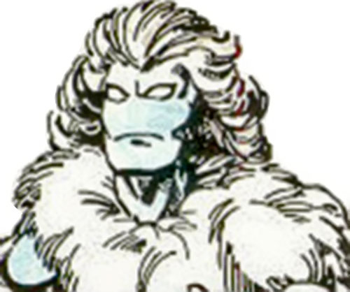 Blizzard (Villains & Vigilantes RPG) (Crisis at the Crusaders Citadel) color face closeup