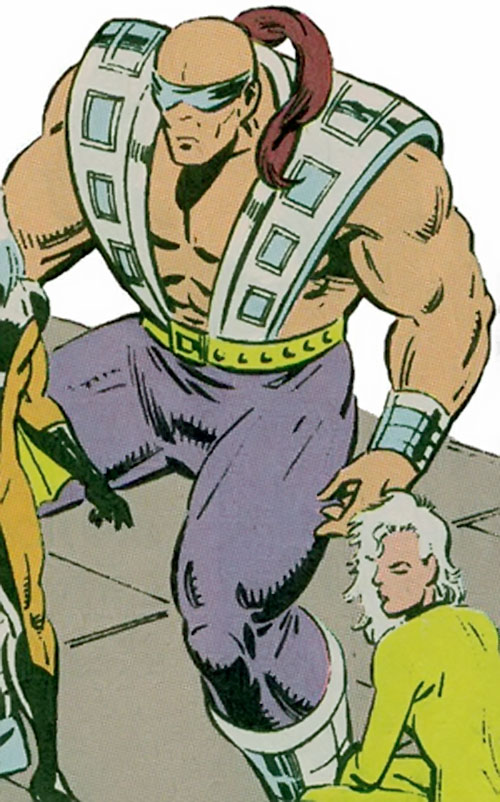 Blockade of Rancor's Lieutenants (Guardians of the Galaxy enemy) (Marvel Comics) with a cloth over his eyes